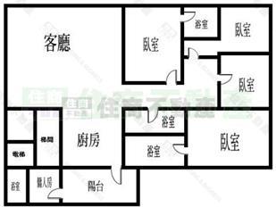 3室一厅格局的房子最少得多少平图片
