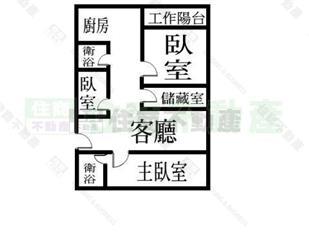 本格局图未依实际比例绘制,其比例,座向,格局,形状等,皆需以房屋现场图片